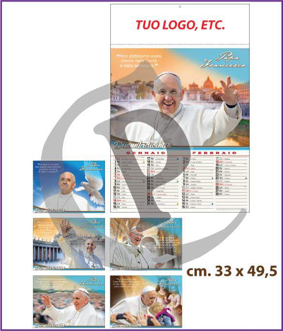 calendari-illustrati-personalizzati-2018-papa-francesco