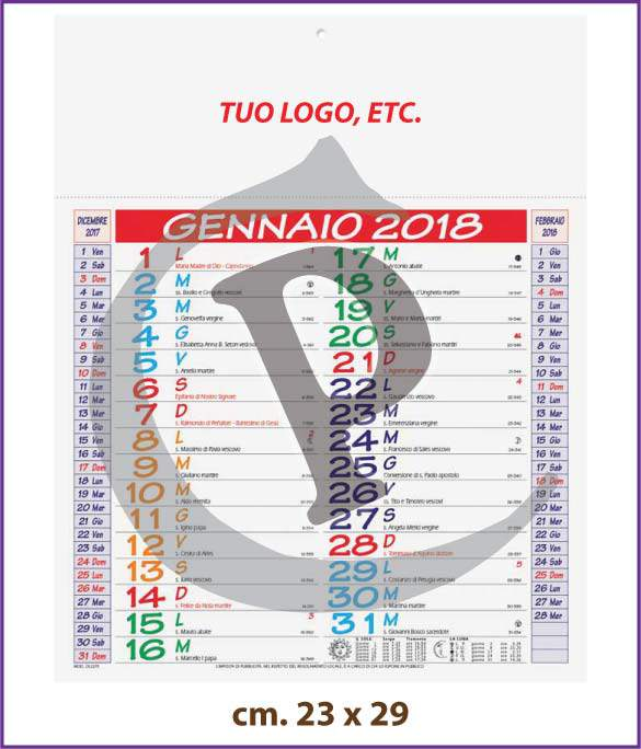 calendari-olandesi-personalizzati-2018-mini-multicolor